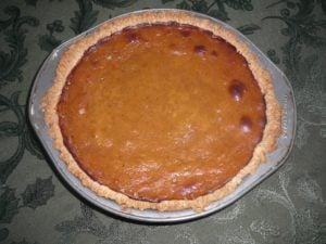 Butternut Squash Pie for October 5th