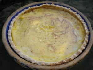 Egg Custard Pie for October 3rd
