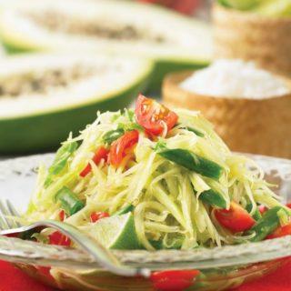 "Green Papaya Salad from ""Simply Vegetarian Thai Cooking"""
