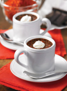 Chile-Spiked Chocolate Pots: Luscious Easy Dessert from The Chile Pepper Bible