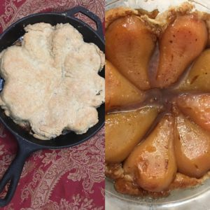 Upside-Down Pear Pie