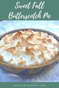 Sweet Fall Butterscotch Pie