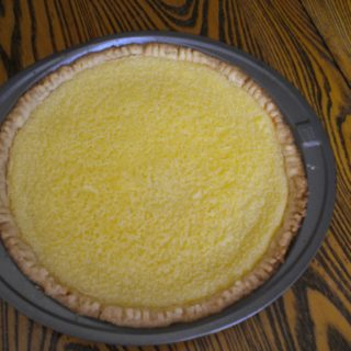 A simple stir-up of buttermilk, sugar, eggs, butter, flour, and vanilla, this pie pleases lemon-lovers and cheesecake fans alike.