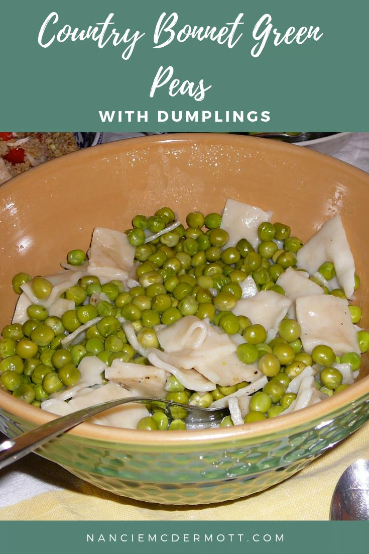 Country Bonnet Green Peas with Dumplings