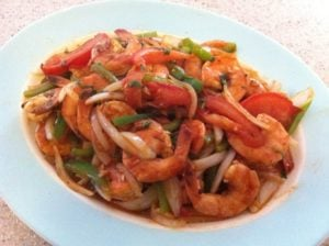 Wok Wednesday Plate of Chinese Trinidadian Shrimp and Rum