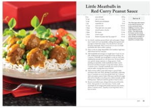 Little Meatballs in Red Curry Peanut Sauce Sample Cookbook Recipe