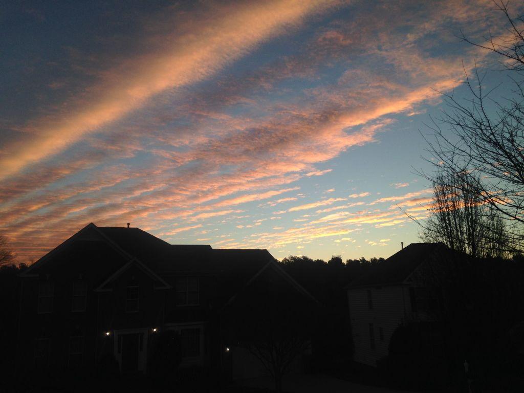 Happy New Year Morning Sky