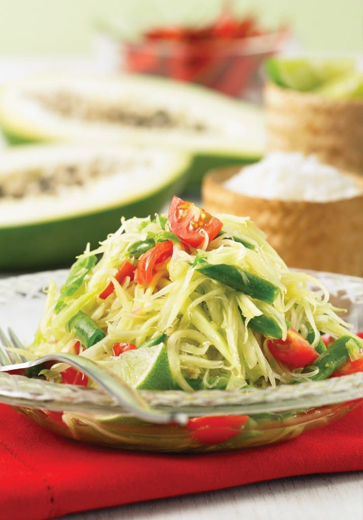 "Green Papaya Salad from ""Simply Vegetarian Thai Cooking"""