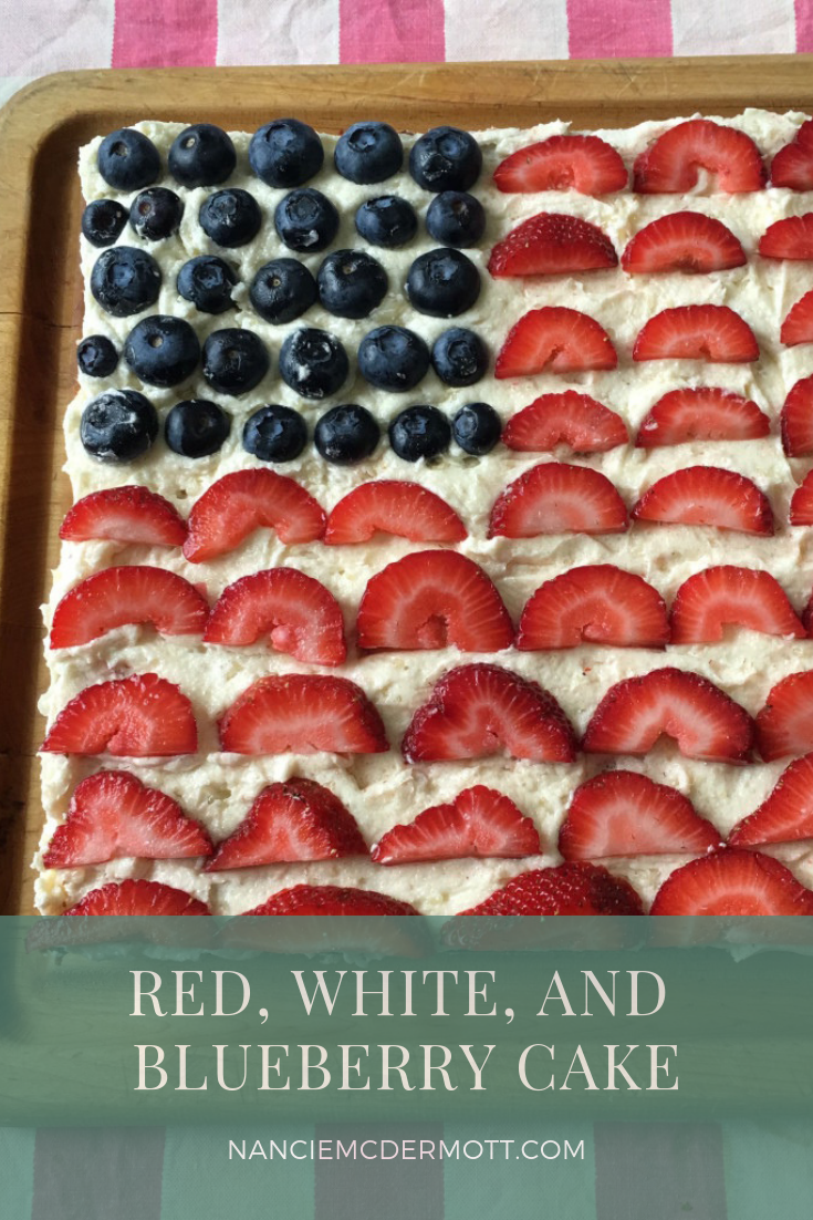 Red White and Blueberry Cake