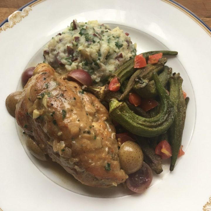 Sandra's Chicken with Muscadine and Suppernong Grapes