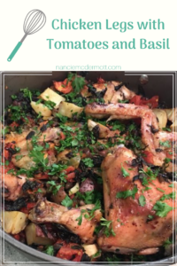 Chicken Legs with Tomatoes and Basil