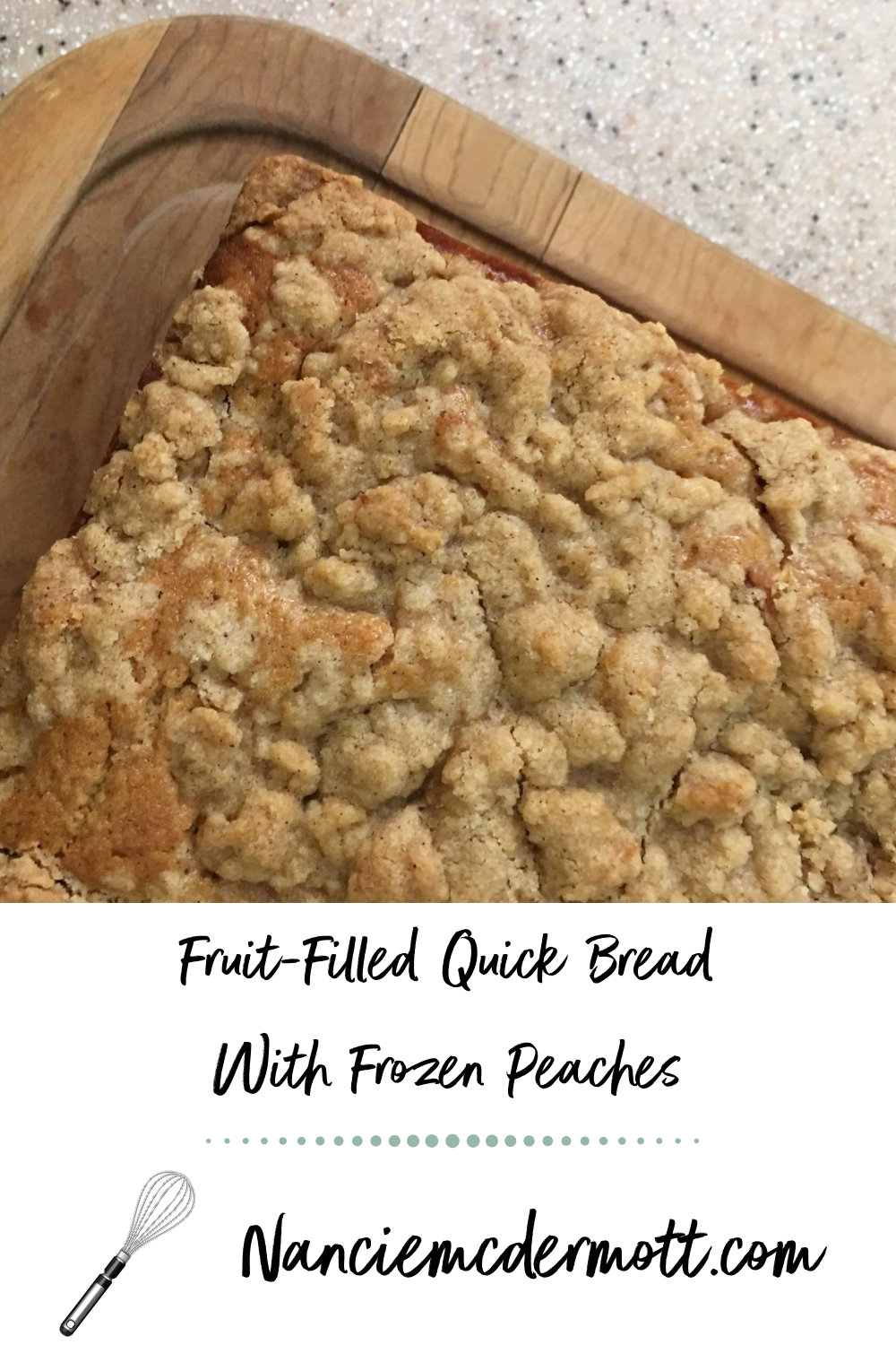 Fruit-Filled Quick Bread with Frozen Peaches