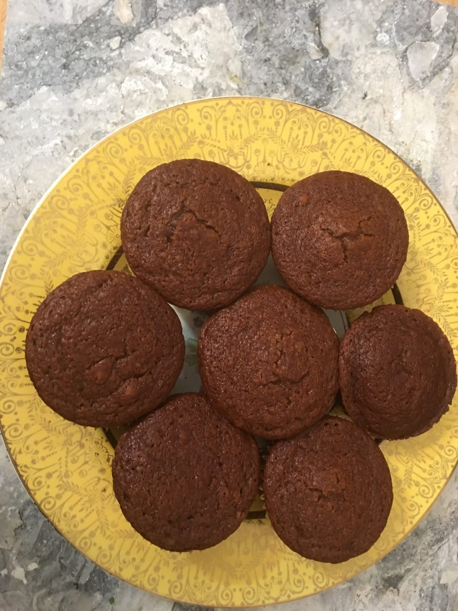 Pumpkin-Ginger Muffins on a yellow plate