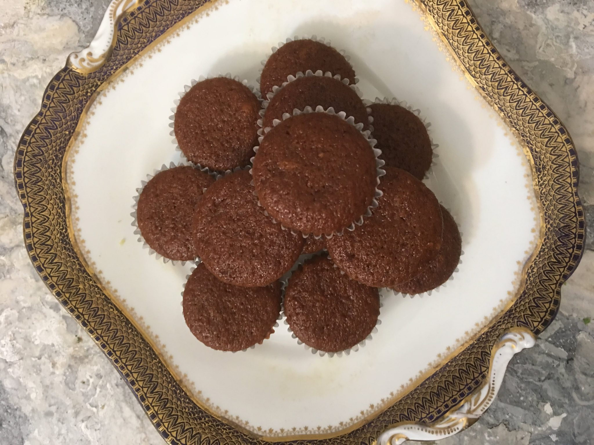 Pumpkin-Ginger Muffins on a decorative plate