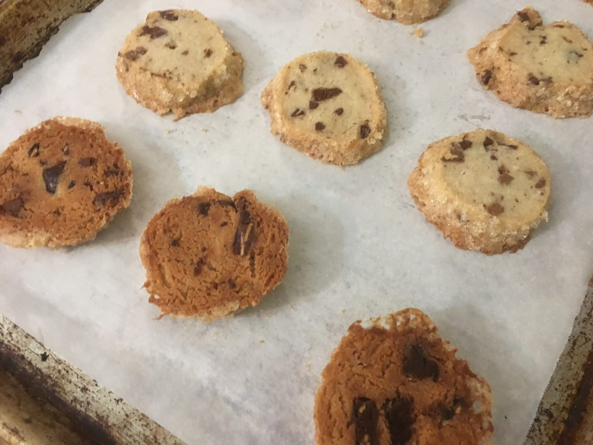 How to make salted butter chocolate chunk shortbread cookies