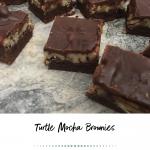 Turtle Mocha Brownies