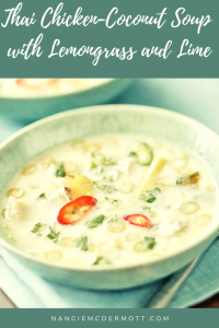 Thai Chicken-Coconut Soup with Lemongrass and Lime