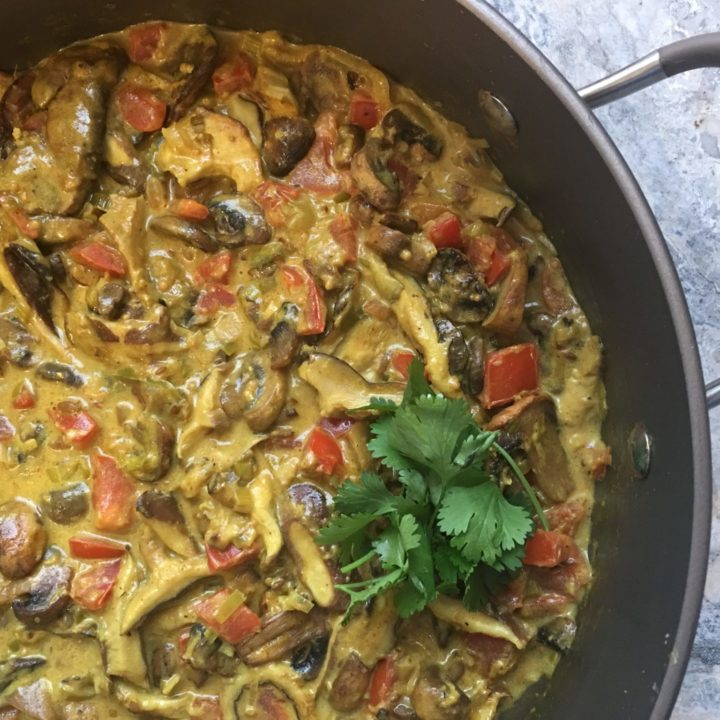 Amazing Mushroom Curry : Vegan, GF, Oven-Baked and Delicious