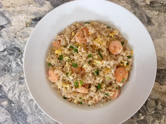Shrimp Fried Rice with Eggs and Green Onions