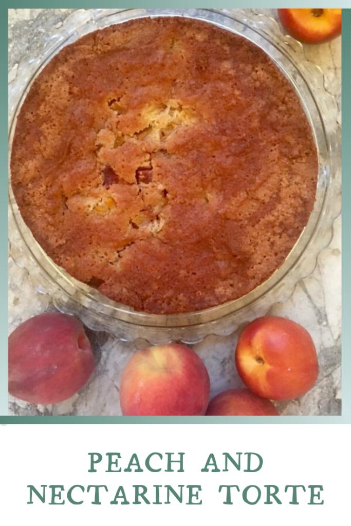 Peach and Nectarine Torte