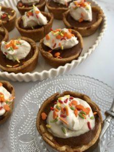 Pumpkin Pie Minis with Brown Sugar Whipped Cream