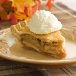 Apple Pie on a tan plate