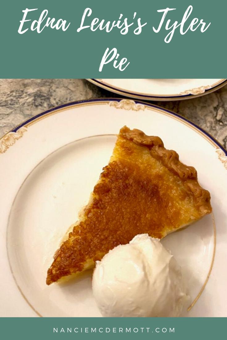 Edna Lewis's Tyler Pie