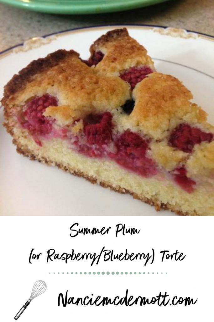 Summer Plum (or Raspberry/Blueberry) Torte